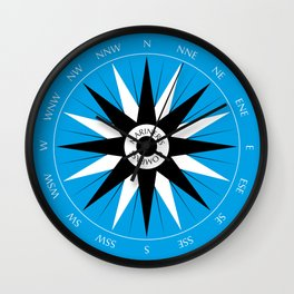 Mariner's Compass Wall Clock