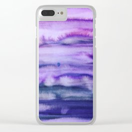 Power Purple Clear iPhone Case