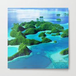 Glimpses of Heaven: Palau 70 Islands In Micronesia Metal Print