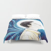 castiel Duvet Covers featuring Castiel by laya rose