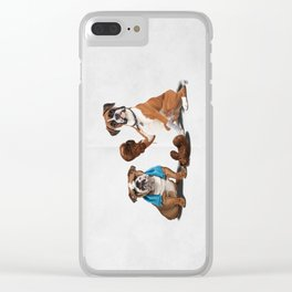 Raging (Wordless) Clear iPhone Case