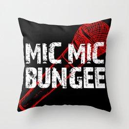 Mic Mic Bungee Throw Pillow