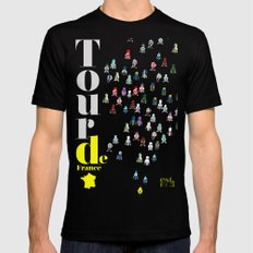 Tour De France MEDIUM Black Mens Fitted Tee