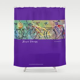 Bicycle Therapy Shower Curtain