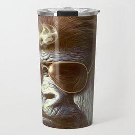 Gorilla in the Mist Travel Mug