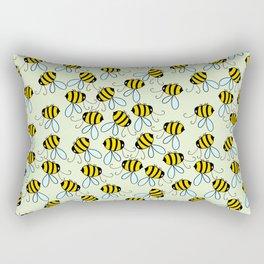 Bumble Bees of Summer Rectangular Pillow