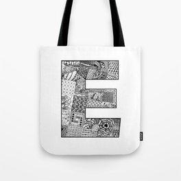 Cutout Letter E Tote Bag