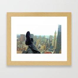 New York Office View Framed Art Print