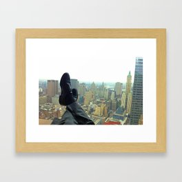 New York Office View Framed Art Print