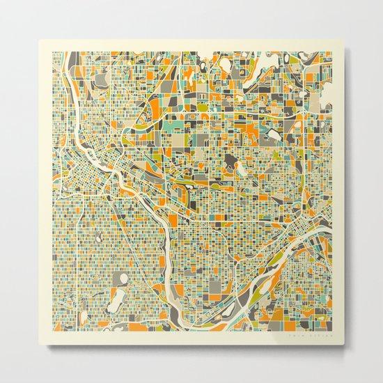 Twin Cities MAP Metal Print
