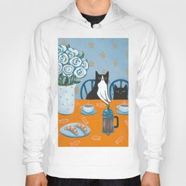 Cats and a French Press Hoody