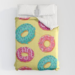 Colorful Donuts Pattern Decoration Comforters