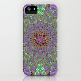A Memory Of Old Colors Mandala iPhone Case