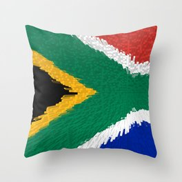 Extruded flag of South Africa Throw Pillow