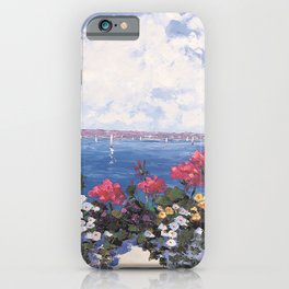 Geraniums by the Bay iPhone Case