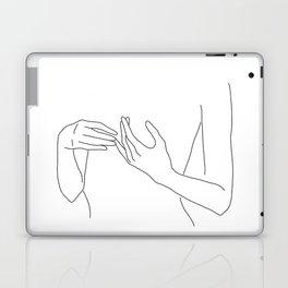 Line Hands 2 Laptop & iPad Skin