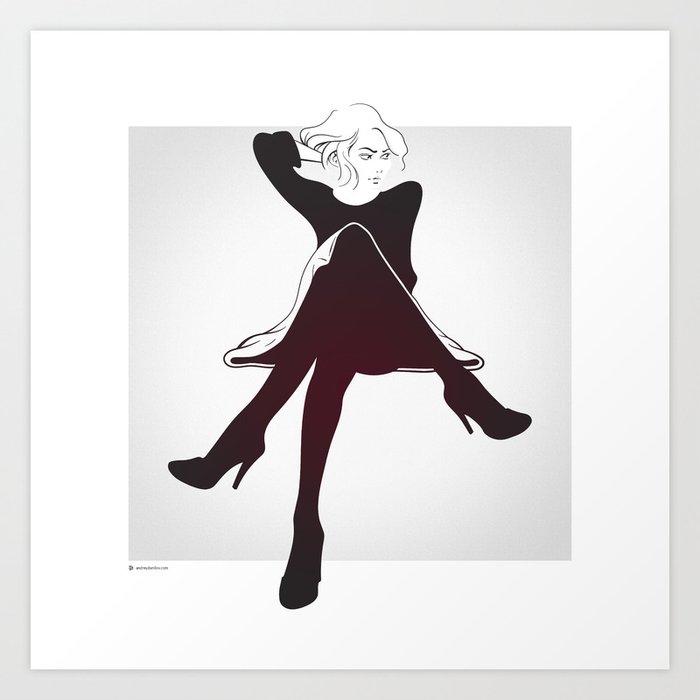 Cross legged Art Print