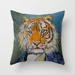 Gentleman Tiger Throw Pillow