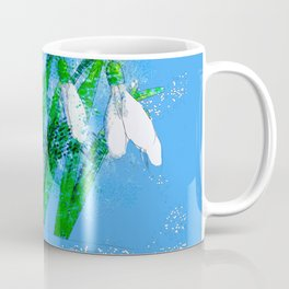 Digital Watercolor snowdrops Coffee Mug