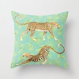 Leopard Landing Throw Pillow