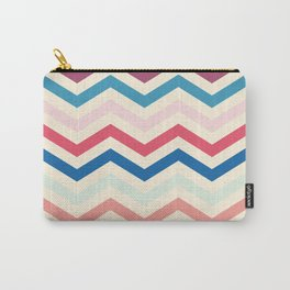 Blue and pink zigzags Carry-All Pouch