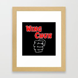 wing chun fist Framed Art Print