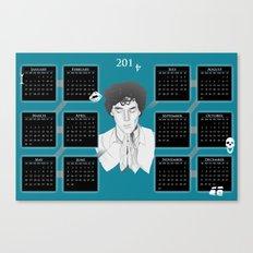 2014 Calendar Canvas Print