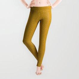 Mustard Paint Drops Leggings