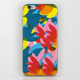 Flowers of Love Summer Pattern Abstract Art iPhone Skin