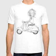 Indian Rider Mens Fitted Tee White X-LARGE