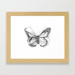 Butterfly Origami Framed Art Print