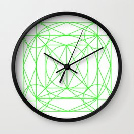 Stained Glass- Green Wall Clock