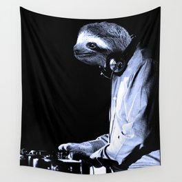 DJ Sloth Wall Tapestry