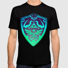 Zelda Shield Black LARGE Mens Fitted Tee
