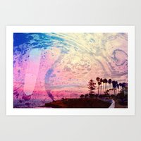 west coast Art Prints featuring West Coast by marcus baker