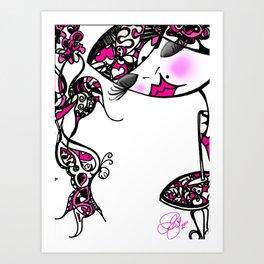 Grafitti Couture Piiiinki Doll Art Print