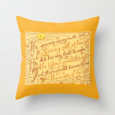 The Walrus and the Carpenter, Stanza 1 Throw Pillow