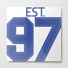 Est. 97 blue Metal Print
