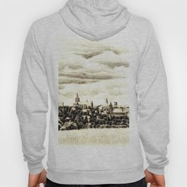 PANORAMA OF A GOTHIC CITY CHELMNO IN POLAND MADE IN FIGURATIVE STYLE Hoody
