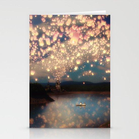 Love Wish Lanterns Stationery Cards