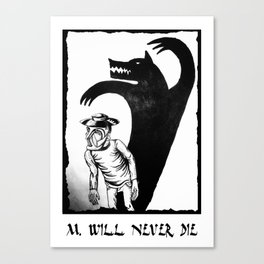 M. will never die Canvas Print
