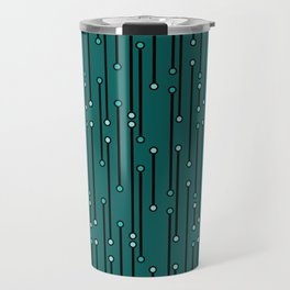 Dotted Lines in Teals Travel Mug