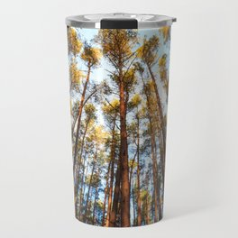 Forest landscape photography - trees and sky Travel Mug