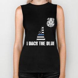 New Hampshire Police Appreciation Thin Blue Line I Back The Blue Biker Tank