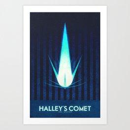 Sol System - Halley's Comet Art Print