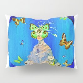 Madame Blue-Terfly  Pillow Sham