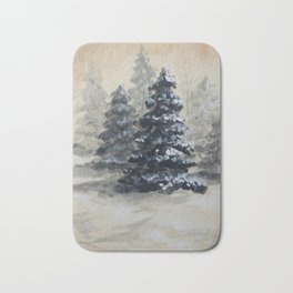 Winter in the Pines Bath Mat