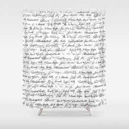 Literary Giants Pattern II Shower Curtain