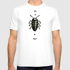 Bug SMALL Mens Fitted Tee White