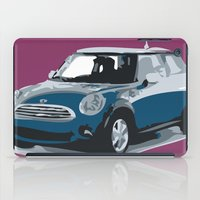 mini cooper iPad Cases featuring blue mini cooper beautiful gift for christmas by Acus